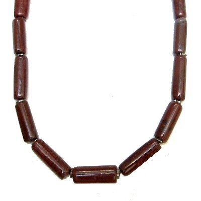 Jasper Necklace 01 Beaded Red Stone Rod Crystal Healing Mineral 17