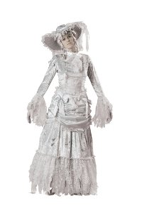 Ghostly Lady Costume - Large - Dress Size 10-14