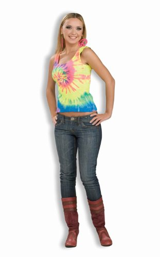 Forum Novelties Women's 60's Hippie Revolution Tye Dye Tank Top