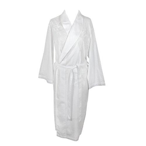 The Irish Linen Store Womens Rosie Linen Dressing Gown White