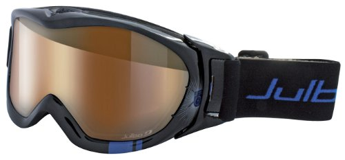Julbo Revolution OTG Goggle, Cat 2-4 Camel Anti-Fog Lens, Black/Blue Large