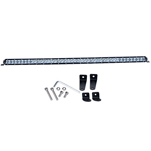 Nilight 41Inch 200W Single Row LED Work Light Spot Flood Combo Light Bar Fog Driving Lamp off road led lights - 2 Style Mounting Brackets ,2 years Warranty (Single Led Work Light compare prices)