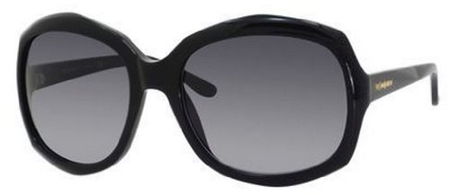 Yves Saint Laurent Yves Saint Laurent 6375/S Sunglasses-0807 Black (HD Gray Gradient Lens)-58mm