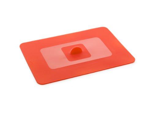 Lékué Couvercle Hermétique Rectangulaire Silicone Platine 35 x 25 cm Rouge Tools