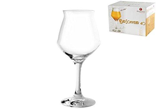 Borgonovo-unidades-6-copas-de-cristal-para-cerveza-40-cl-Transparente