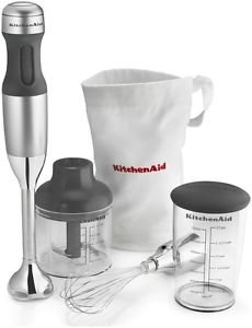 Kitchenaid 3-speed Immersion Hand Blender Khb2351cu Silver Blend Chop Crush Mix One Day Shipping Good Gift Fast Shipping