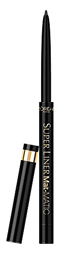 L'Oréal Make Up Designer Paris Super Liner Mat Matic Eyeliner, 01 Ultra Black