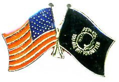 Wholesale Lot of 12 USA Flag POW MIA Flag Hat Lapel Pin Tg025