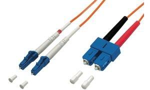 Assmann DK-2532-01/3 LWL LC/SC OM 3 Multimode Patch Kabel (1m)