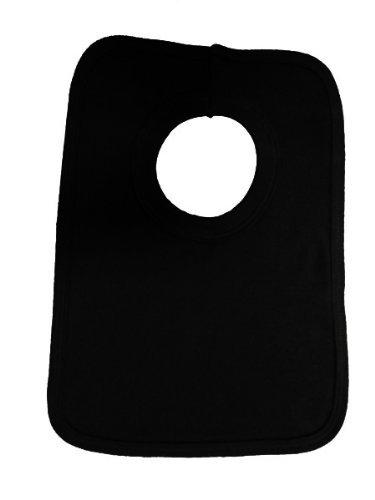 Black Baby Bib front-1030003