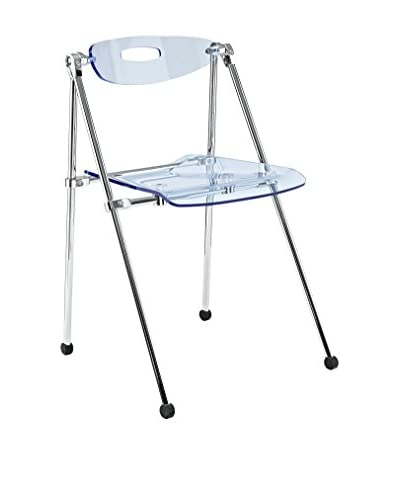 "Modway Telescope Folding Chair, Light Blue, 19""Lx19""Wx30""H"