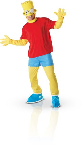 BART SIMPSON ADULTS FANCY DRESS OUTFIT MENS SUIT GENTS HALLOWEEN COSTUME NEW