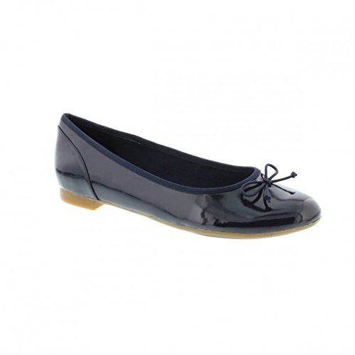 Clarks Couture Bloom, Ballerine Donna, Blu (Navy Patent), 38 EU
