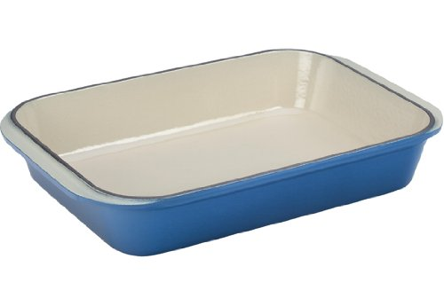 Le Creuset Enameled Cast-Iron 15-3/4-by-10-3/4-Inch Rectangular Roaster, Marseille (Le Creuset Grill Dune compare prices)
