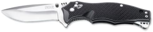 SOG Specialty Knives amp Tools VL02-CP Vulcan Mini Knife with Straight Edge Assisted Folding 3-Inch