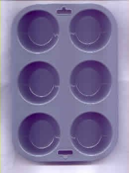 Fox Run Flexible Bakeware 6 Cup Large Muffin Pan