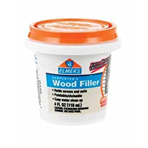 Elmers Interior Exterior Carpenter 39 S Wood Filler 1 4 Pint Tools Home Improvement