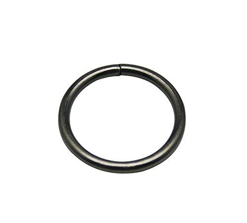 "Generic Metal Gun Black Annular Ring Buckle 1"" Inside Dia Loop Ring For Strap Keeper Pack Of 15"