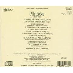 Back cover: Corydon Singers