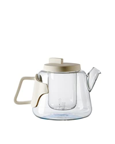 Seletti Era Glass Teapot with Porcelain Handle & Lid, Clear/White