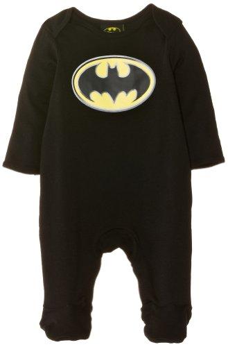 Batman - Batman Sleepsuit BM131, Pigiama unisex bimbi, Schwarz, 80 (Taglia produttore:6/9 Months)