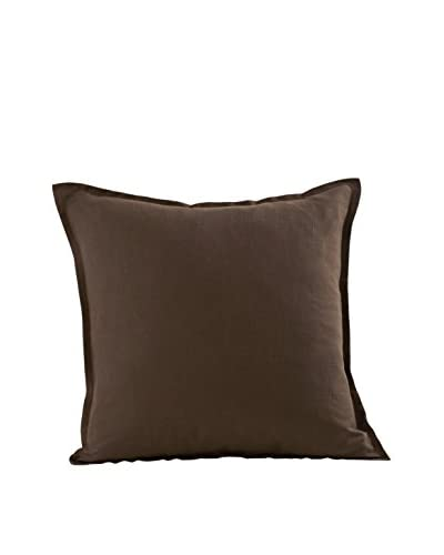 zestt Oxford Throw Pillow, Espresso