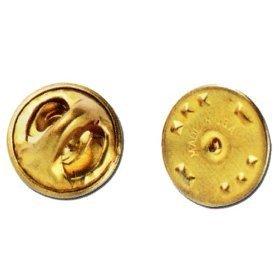 Brass Metal Uniform Pin Badge Insignia Clutch Backs, Quantity: 25-Pack !