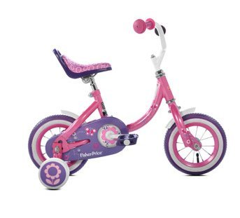 Fisher Price Girls' Pink, Purple & White Bike
