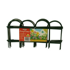 15 Metre Garden Border Easy Fence Clip Together Panels. 40 Sections, 20cm Height