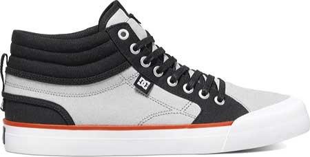 DC Men's Evan Smith Hi Skate Shoe, Black/Grey, 11 M US