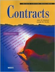 Black Letter Outline on Contracts 5th (fifth) edition Text Only