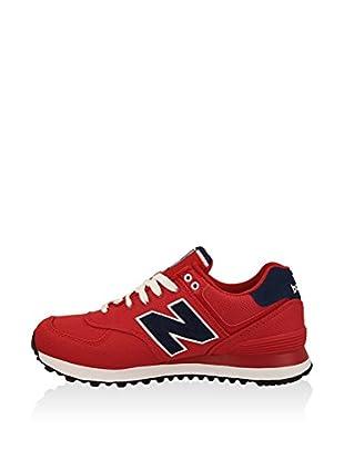 New Balance Zapatillas Wl574Bfl (Rojo / Azul Marino)