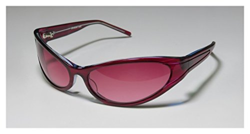 [Christian Roth 14255 Mens/Womens Wrap Full-rim Sunglasses/Eyewear (64-16-115, Wine)] (Bertha Red Costumes)