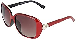Omnesta Women's Over-sized Sunglasses (Red) (PD051)