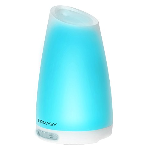 Homasy 100ml Essential Oil Diffuser Humidifier, Aromatherapy Diffuser with 7 Color Lights,4-6 Hours Working Time for Home, Office, Bedroom, Yoga Room (Aroma Diffuser 100ml compare prices)