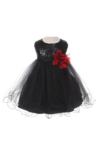 Sequin & Tulle Special Occasion Holiday Dress - Black Baby Xl (18-24 Month) front-981879