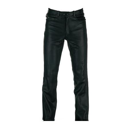 Spada Pantalon en cuir noire de l'Ouest