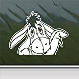 Eeyore White Sticker Decal Donkey Disney Pooh Winnie White Car Window Wall Macbook Notebook Laptop Sticker Decal
