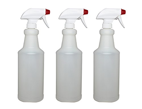 Plastic Spray Bottles Leak Proof Technology Empty 32 oz Pack of 3 Made In USA By Pinnacle Mercantile (Spray Bottle 32 Oz compare prices)