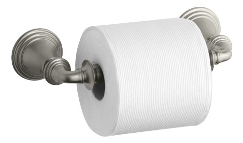 KOHLER K-10554-BN Devonshire Toilet Tissue Holder, Double Post, Vibrant Brushed Nickel