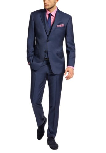 Honeystore Men'S None Vented Suits With Pants Color Navy Size Large front-236341