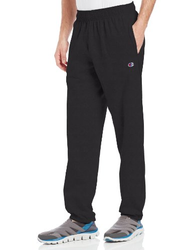 Champion Men's Closed Bottom Light Weight Jersey Sweatpant, Black, Large (The Champion compare prices)