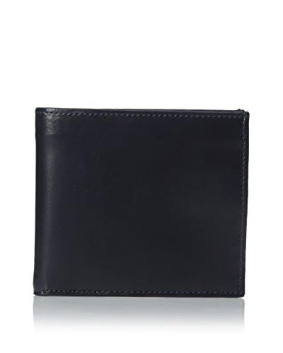 Leone Braconi Men's Soave Bi-Fold Wallet, Navy