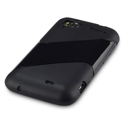HTC SENSATION/ SENSATION XE TWILL DESIGN GEL SKIN CASE / COVER – BLACK PART OF THE QUBITS ACCESSORIES RANGE