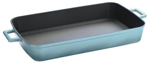 Lava Signature Enameled Cast- Iron 2-3/4 Quart - 8-/12 x 12 inch Roasting-Baking Pan, Blue Opal