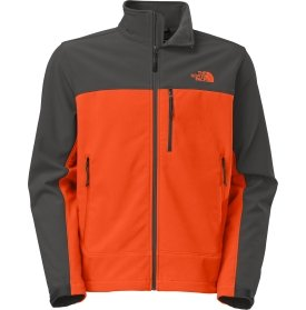 The North Face Apex Bionic Soft Shell Jacket - Men's-Seville Orng/Asphalt Grey-S from The North Face