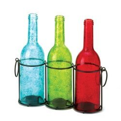 Eastwind Gifts 10016684 Carrington Trio Bottle Candle Holder