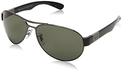 Ray-Ban RB3509 - GUNMETAL Frame POLAR GREEN Lenses 63mm Polarized (Made In Italy Ray Ban Sunglasses compare prices)