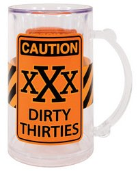 Laid Back CS13049 Dirty Thirties Acrylic Tankard, 14-Ounce