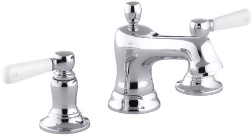 KOHLER K-10577-4P-CP Bancroft Widespread Lavatory Faucet, Polished Chrome